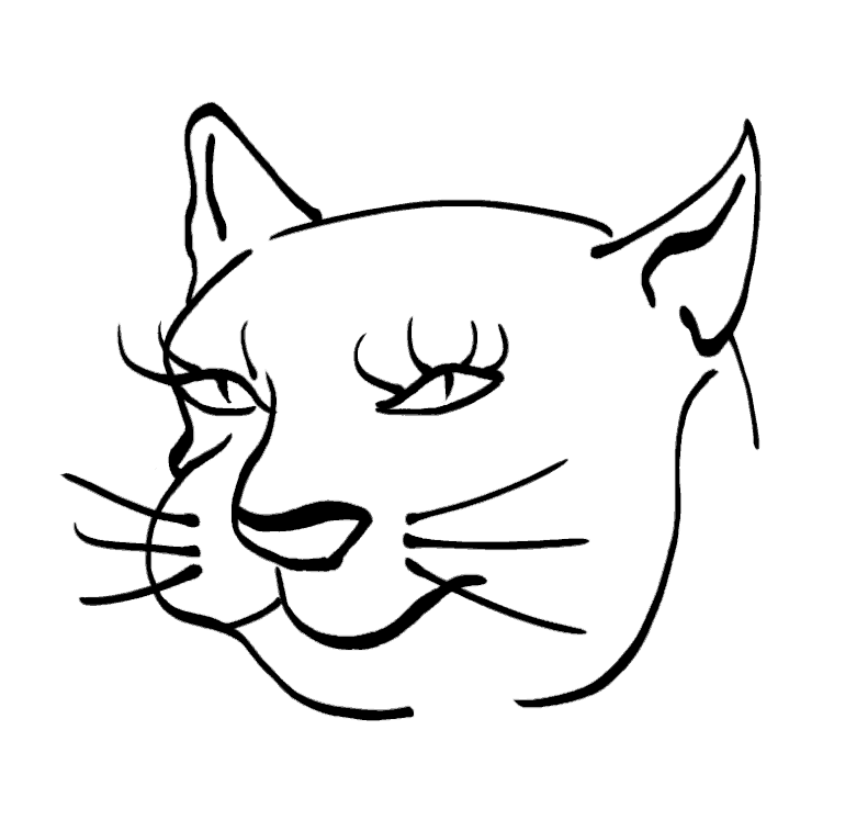 Cat -ukiyo-e BlackandWhite 5 - (猫) by RedSparkle (12-2019)