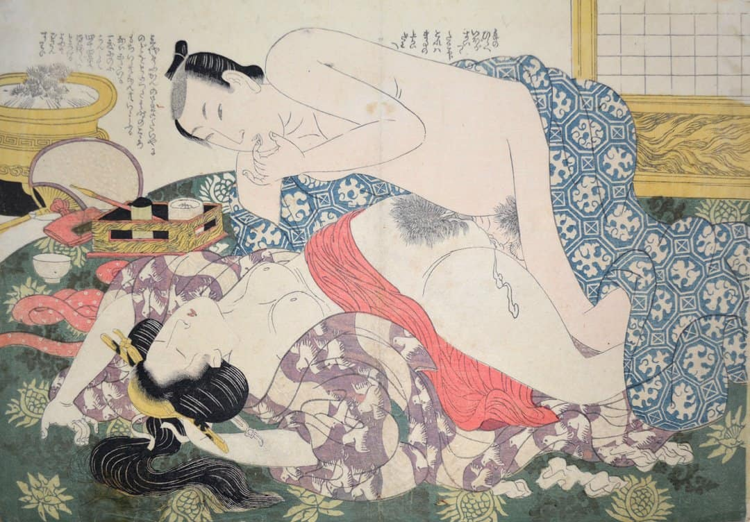 Eizan, Abondment after sake, c. 1815, shunga