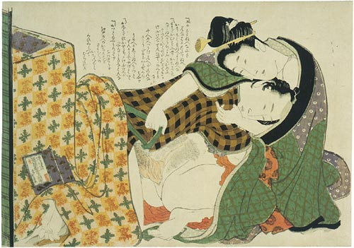 Hokusai, underneath the kotatsu, ca. 1816, shunga