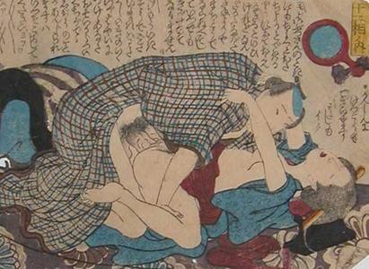 Keisai Eisen, Passion, c.1840, shunga