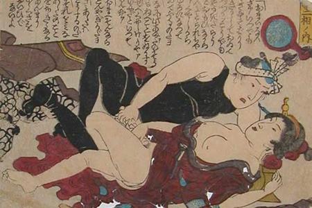 Keisai Eisen, Stop Talking, c.1840, shunga