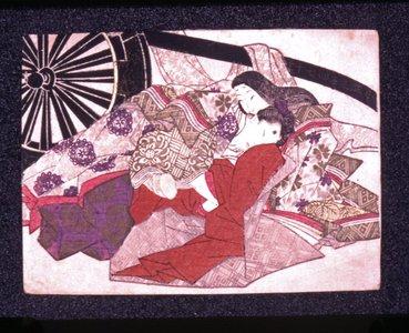 Keisai Eisen, below the cart, c. 1819, shunga