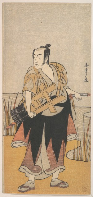 The Fourth Matsumoto Koshiro as a Man Standing on the Bank of a River, by Katsukawa Shunsho, c.1785, ukiyo-e, yakusha-e