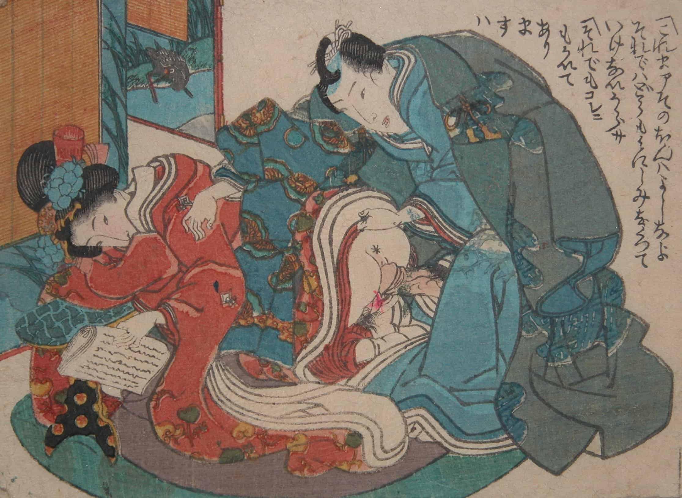 Toyokuni III, The prince and The princess, c.1848, shunga