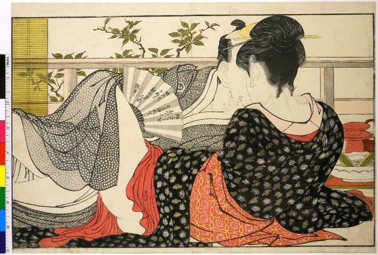 Utamakura 歌まくら , Poem of the Pillow (1788),ukiyo-e, shunga