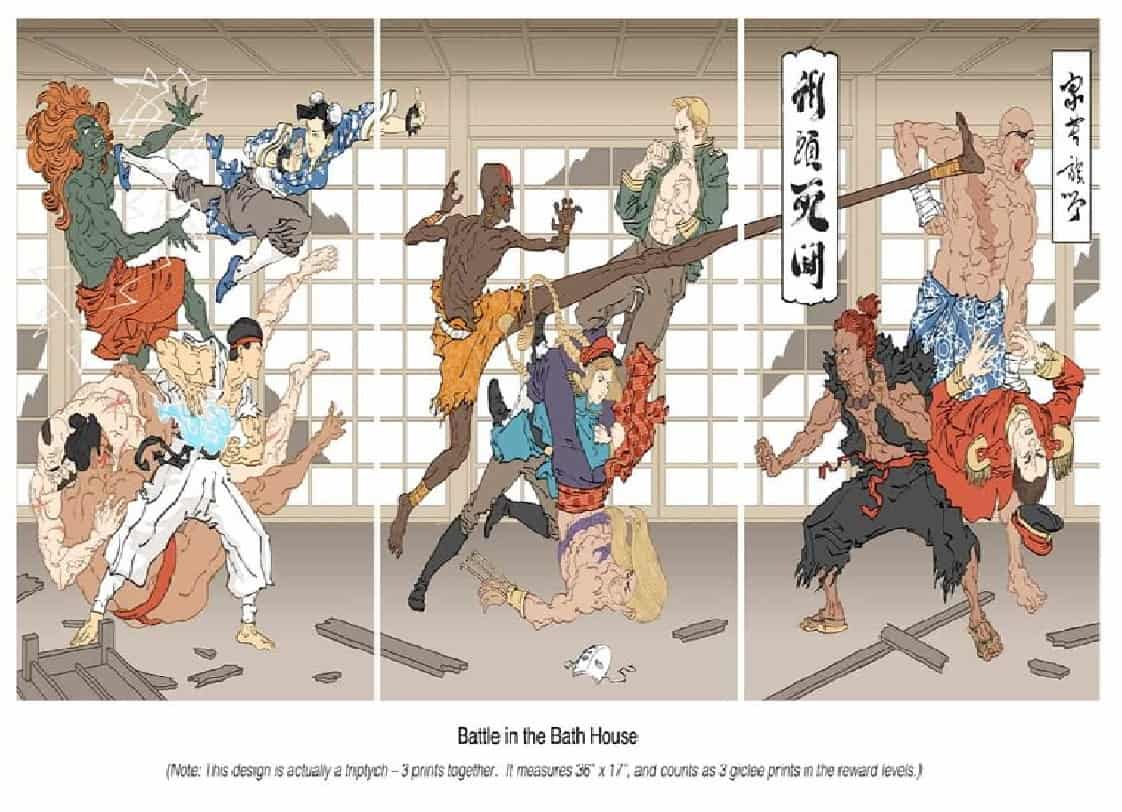 Battle in the bath house